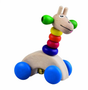 DETOA Wooden Giraffe On The Wheels