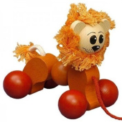 ABA 44008 Pull Along Lion Toy 15x10x14 cm Wood