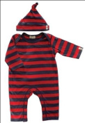 Stripey Red Playsuit & Hat Set by Lilly & Sid