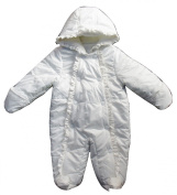 BLUE ZOO Baby Cream Coloured Fleece Lined Wadded All In One Snow Suit - 3/6 Months