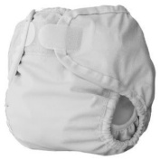 Thirsties Large Nappy Cover (Innovative Design Provides A Snug, Yet Comfortable Fit) - White Baby / Child / Infant / Kid