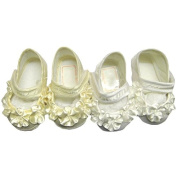Pretty baby girls bautiful satin lace christening wedding special occassion shoes