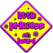 FLORAL LITTLE PRINCESS Baby on Board Car Window Sign