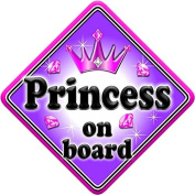 GEM JEWEL PRINCESS Baby on Board Car Window Sign