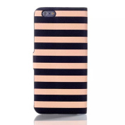inShang Apple IPHONE 6 CASE Feature Fashion Stripe element, With Useful Wallet Design For iPhone6 12cm