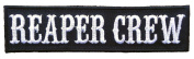 Reaper Crew Outlaw Embroidered Military Biker [10cm ] Patch