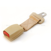 Seat Belt Extender - Adds 20 cms - Type S - Beige - E4 Safety Certified - Raises Your Buckle!