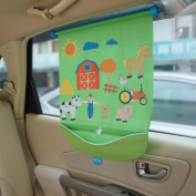 Koo-di FuzziFun Fuzzy Felt Car Window Shade / Blind