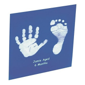 Baby Hand or Foot Prints Glass Tile - Blue