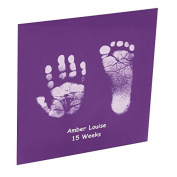 Baby Hand or Foot Prints Glass Tile - Violet