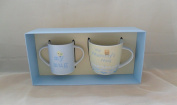 BABY BOUTIQUE BABY GIFTS - MUMMY & BABY MUG GIFT SET BLUE 50992