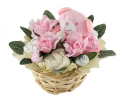Baby Shower Gift Basket in Pink for a Girl
