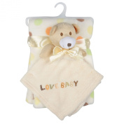 Baby Super Soft Blanket & Toy Gift Set Newborn Christening Present - Beige Bear