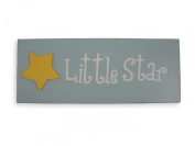 Little Star Wall Plaque. Sign for baby room. Baby boy gift.