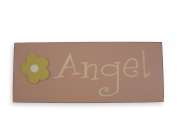 Angel Wall Plaque. Sign for baby room. Baby girl gift.