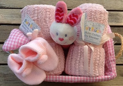 Deluxe Pretty in Pink Newborn Baby Girl Hamper - the Perfect Gift