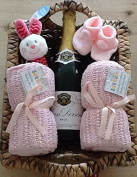 Luxury Newborn Baby Girl & Parents Hamper - the Perfect Gift