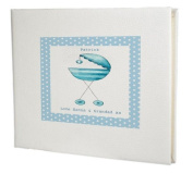 baby record book,baby memory book,baby Boy Guest Book,Blue Pram