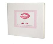 baby record book,baby memory book,baby girl gift,pink pram