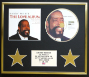 BARRY WHITE/CD DISPLAY/LIMITED EDITION/COA/THE LOVE ALBUM