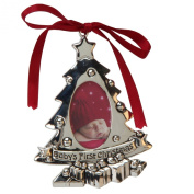 Juliana Silverplated Baby's First Christmas Tree Ornament