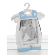 Silver Blue Baby Romper photo Frame