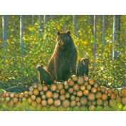 Bears - Log Pile Chris Hiett Small Wall Sign Gifts, and, Cards Gift, Idea Occasion, Gift, Idea