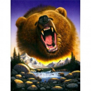 Grizzly Bear Chris Hiett Small Wall Sign Gifts, and, Cards Christmas, Gift, Idea Occasion, Gift, Idea