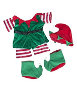 Santa's Little Helper Elf Outfit / Teddy Clothes to fit Build A Bear