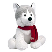 Global Gizmos Plush Christmas Festive Husky Dog