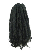 CyberloxShop® Marley Braid Afro Kinky Hair #1B Off Black