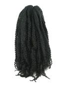 CyberloxShop® Marley Braid Afro Kinky Hair #1B Off Black