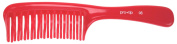 Pro Tip Hairdressing Handle Detangle Comb PTC08 205mm - RED
