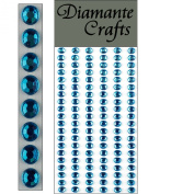 120 x 5mm Turquoise Diamante Self Adhesive Strips Rows Rhinestone Body Vajazzle Gems - created exclusively for Diamante Crafts