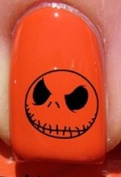 Halloween Jack skellington - Nail Decals by YRNails