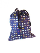 Kids Cotton Wash Bag Drawstring small - All at Sea
