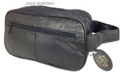 NEW MENS LARGE SOFT LEATHER TOILETRY TRAVEL WASH BAG TRAVEL KIT BAG