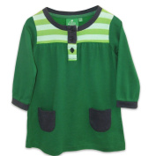 Little Green Radicals Organic Fairtrade Cotton Moss Green Dress for 3 - 4 Years