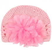niceeshop(TM) Infant Toddler Girl Cute Crochet Flower Baby Knit Hat Cotton Cap,Pink