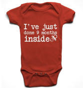'I've just done 9 months inside' funny cute unisex babygrow bodysuit