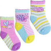 Baby Girls Colourful Cotton Rich Wildlife Jungle Animal Socks
