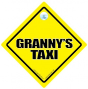 Granny's Taxi Car Sign, Taxi Driver, Grandchildren, Car Sign, Baby On Board Sign, baby on board, Novelty Car Sign, Gran, Grannys, Grandma