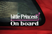 Little Princess on board Sticker. baby girl on board car