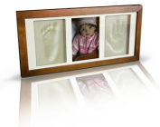 BRAND NEW WOODEN GLASS PICTURE FRAME FOOT HAND PRINT CASTING KIT LOVELY GIFT
