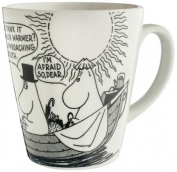"Moomin MO977D Large Mug with ""I'm afraid"" Motif"