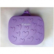 Violet Purse Contact Lens Travel Kit Case With Tweezers And Integrated Mirror