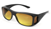 JML HD Vision WrapAround Unisex Anti-Glare Sunglasses - Fits Over Your Prescription Glasses!