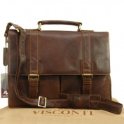 Visconti Vintage Leather Briefcase & Strap - VT6 - Bennett
