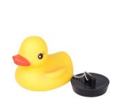 Yellow Rubber Bath Duck Bath Basin Sink Plug with Chain