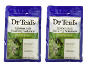 Dr. Teal's Epsom Salt Soaking Solution with Eucalyptus Spearmint, 1420ml (Pack of 2